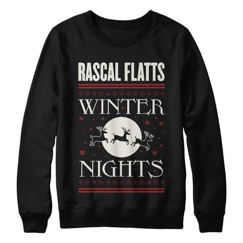 Winter Nights Black Holiday Crewneck