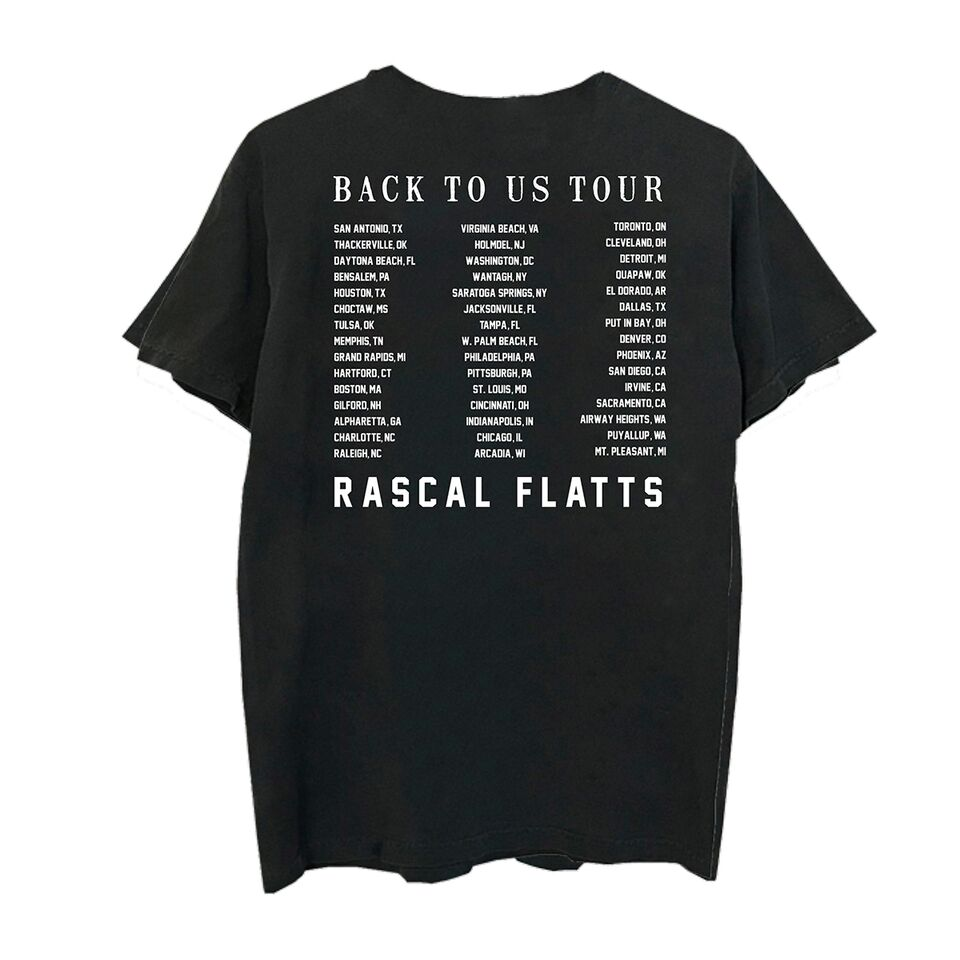 Rascal Flatts Back to Us Tour Dateback T-Shirt
