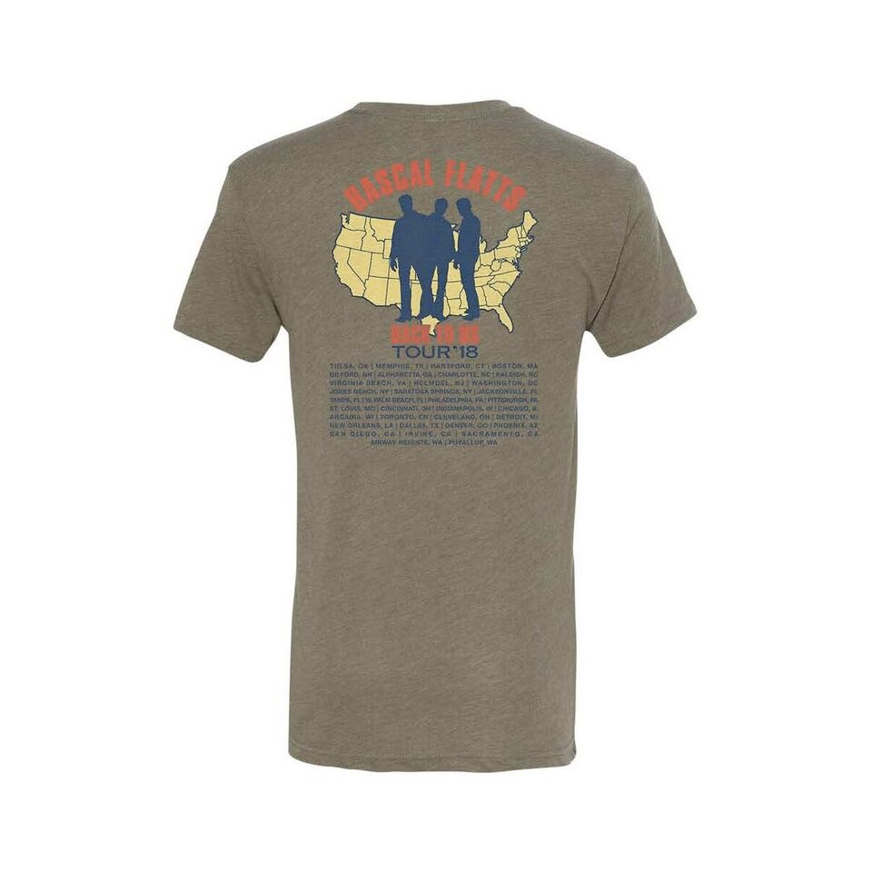 Interstate Olive Green Tour T-Shirt