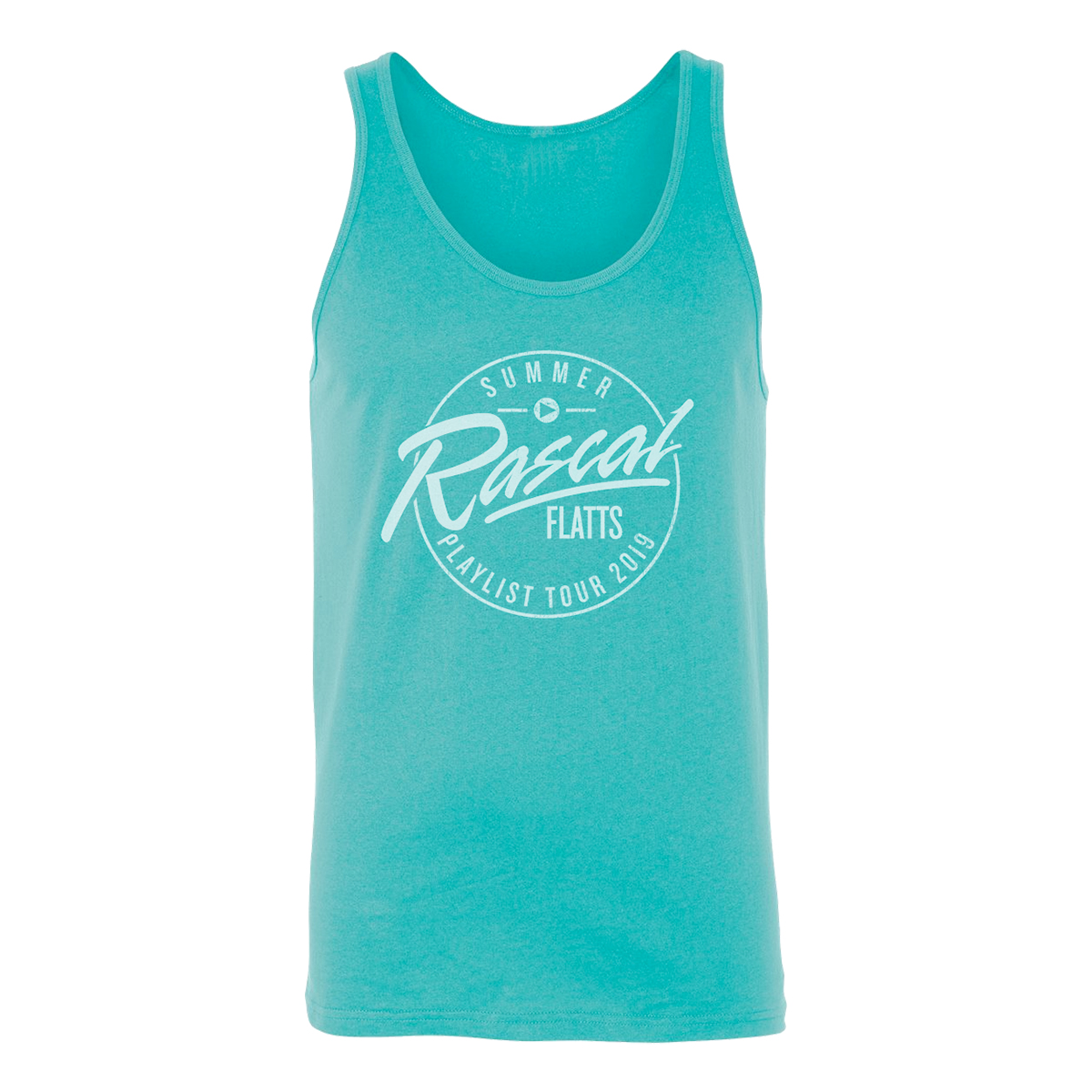 Summer Playlist Tour Teal Tank Top