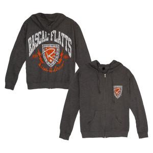 Rascal Flatts Shield Charcoal Zip Hoodie