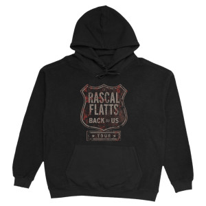 Back To Us Tour Logo Black Hoodie