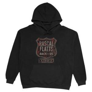 Back To Us Tour Logo Black Hoodie