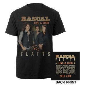 Live & Loud Black Dateback T-Shirt