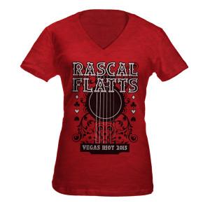 Scarlet Guitar V-Neck T-Shirt