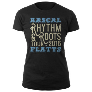 Rascal Flatts Rhythm & Roots Tour Ladies T-Shirt