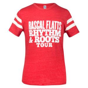 Rhythm & Roots Red Football T-Shirt