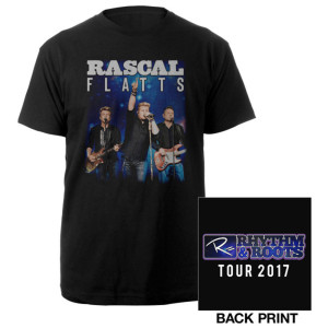 Rascal Flatts 2017 Black Tour T-shirt