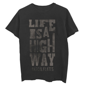 Life is a Highway Vintage Black T-Shirt