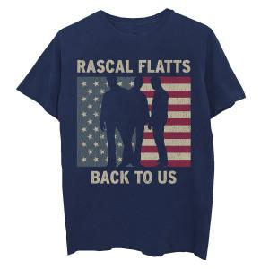 Rascal Flatts Flag Silhouette Indigo T-shirt