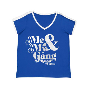 Me & My Gang Royal V-Neck Ringer