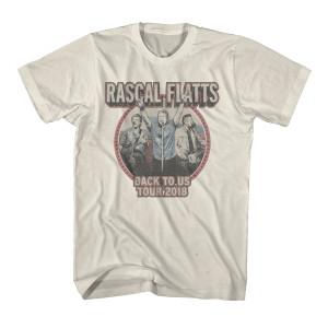Back to Us Tour Natural Dateback T-Shirt