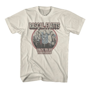 Back to Us Tour Natural Dateback T-Shirt
