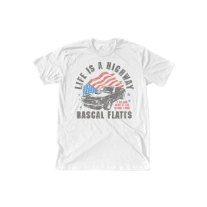 Life is a Highway Flag T-Shirt