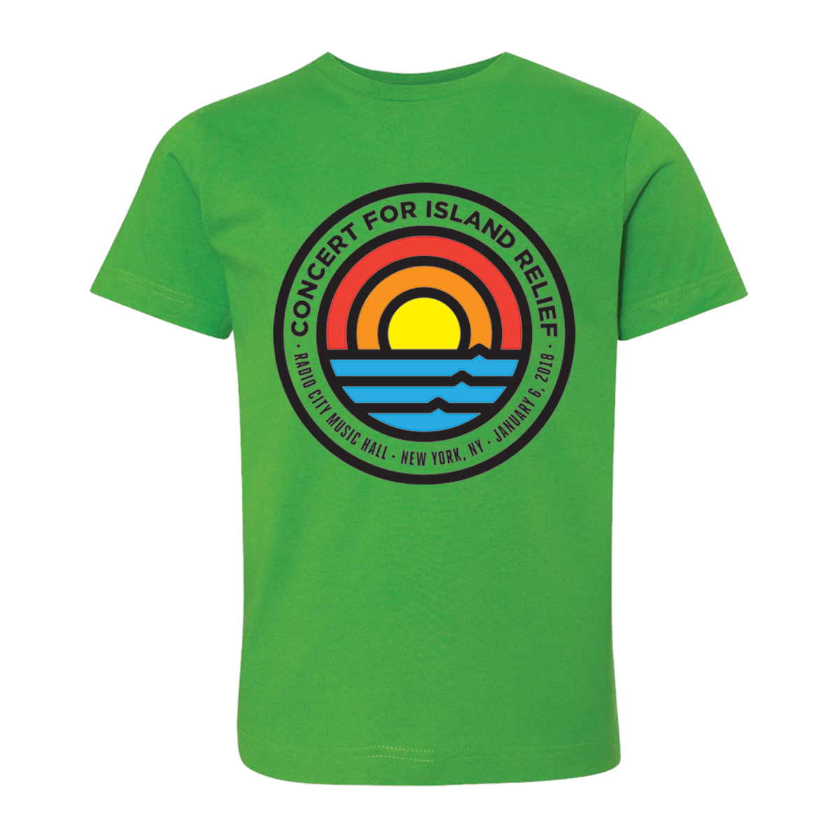Concert for Island Relief Kid's Rainbow T-Shirt