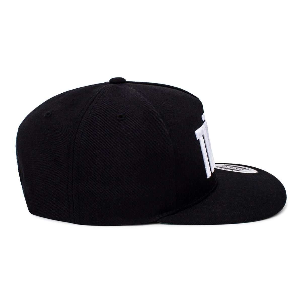 'Boxed' Logo Snapback Hat - White/Black