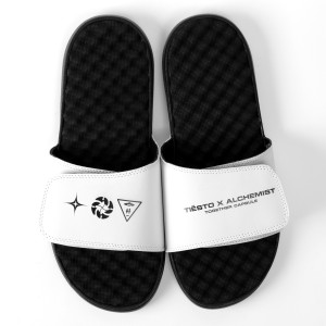 Tiësto x Alchemist Pool Slides - White & Black
