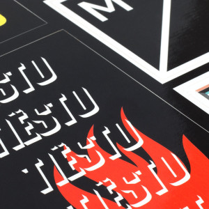 'Flame' Sticker Sheet