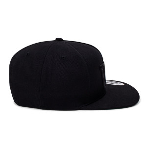 'Boxed' Logo Snapback Hat - Black/Black