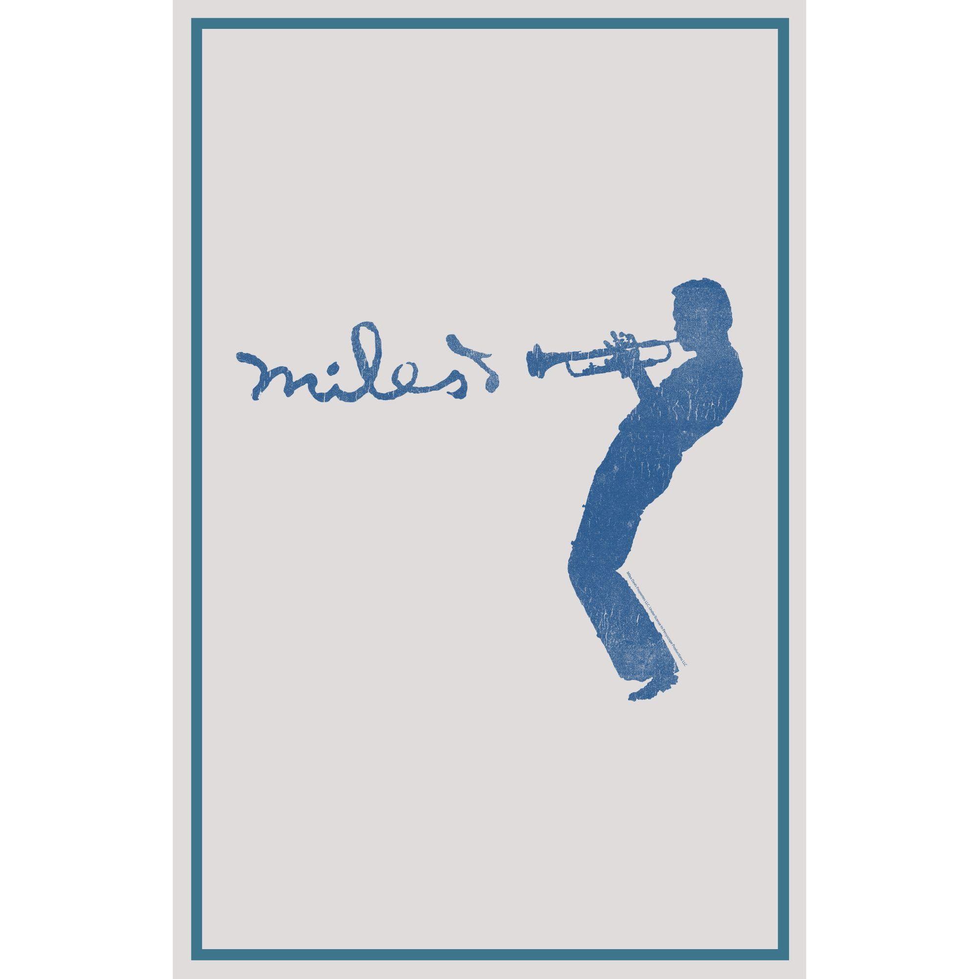 Blue Silhouette Print