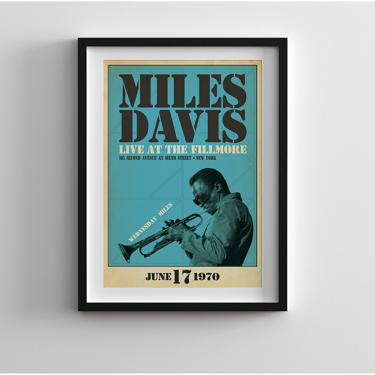 Miles Live at the Fillmore, Wednesday Night Print