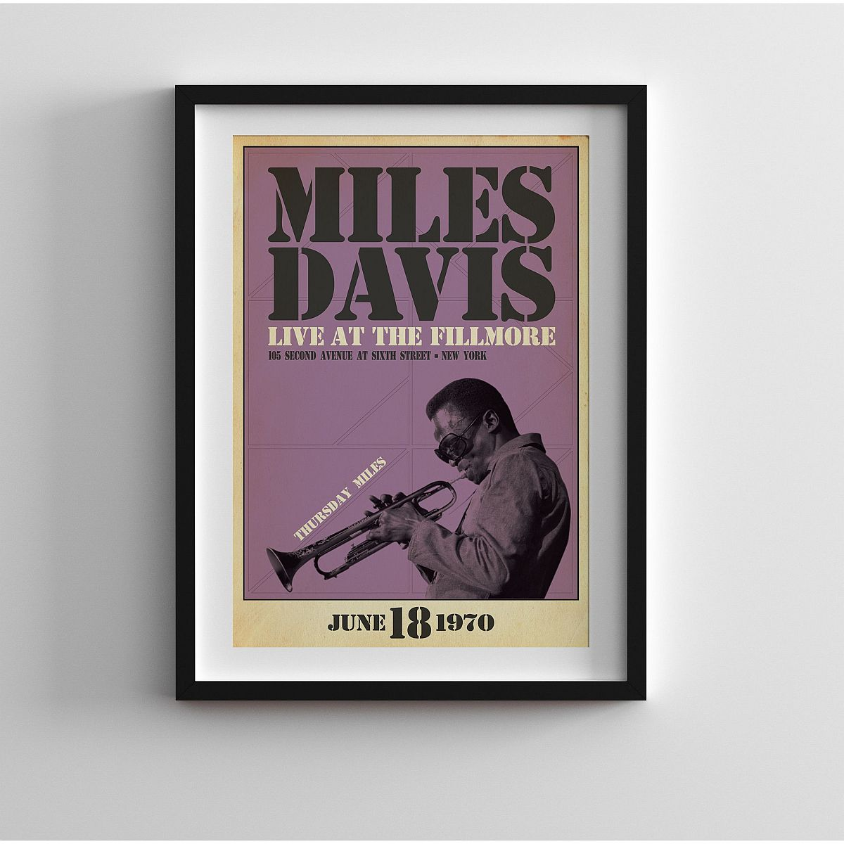 Miles Live at the Fillmore, Thursday Night Print