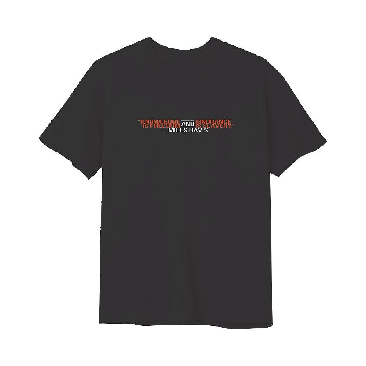 Knowledge Black T-Shirt