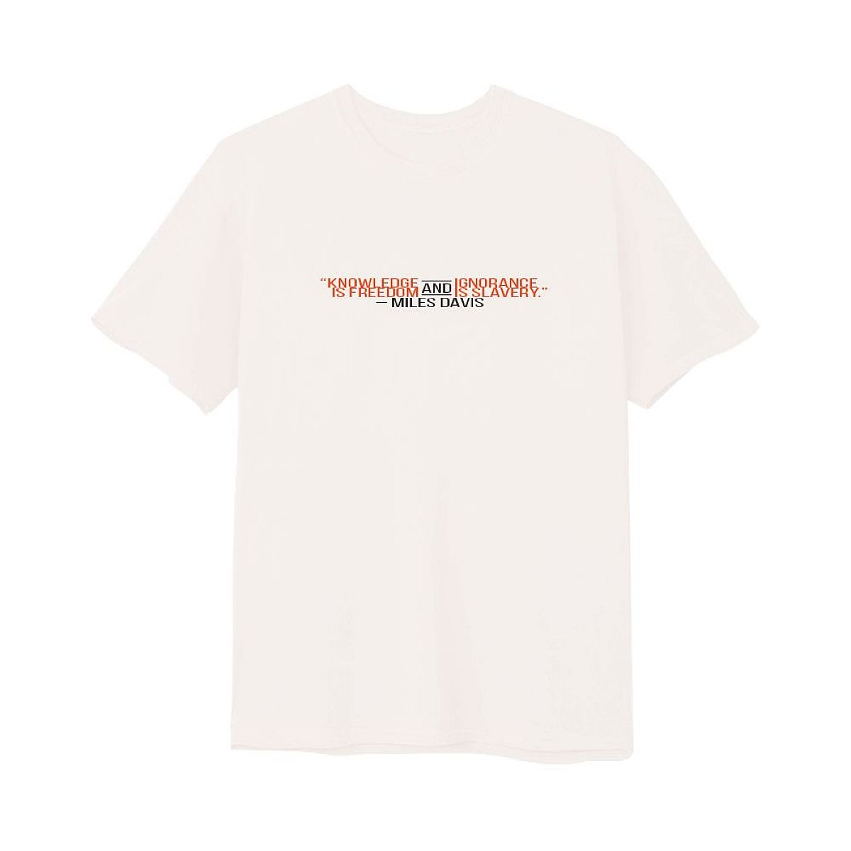 Knowledge White T-Shirt