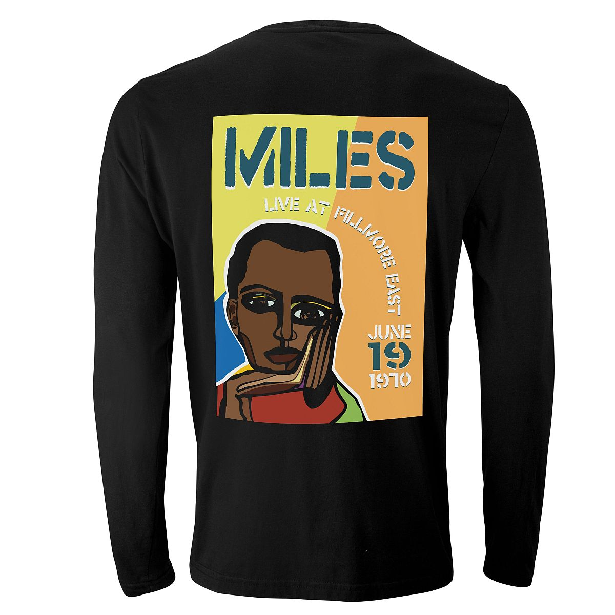 Miles Live at the Fillmore East 50th Anniversary Cubism Longsleeve T-Shirt