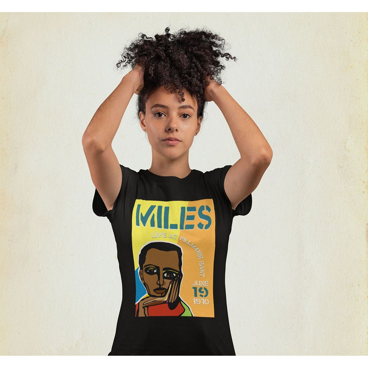 Miles Live at the Fillmore East 50th Anniversary Cubism Poster T-Shirt