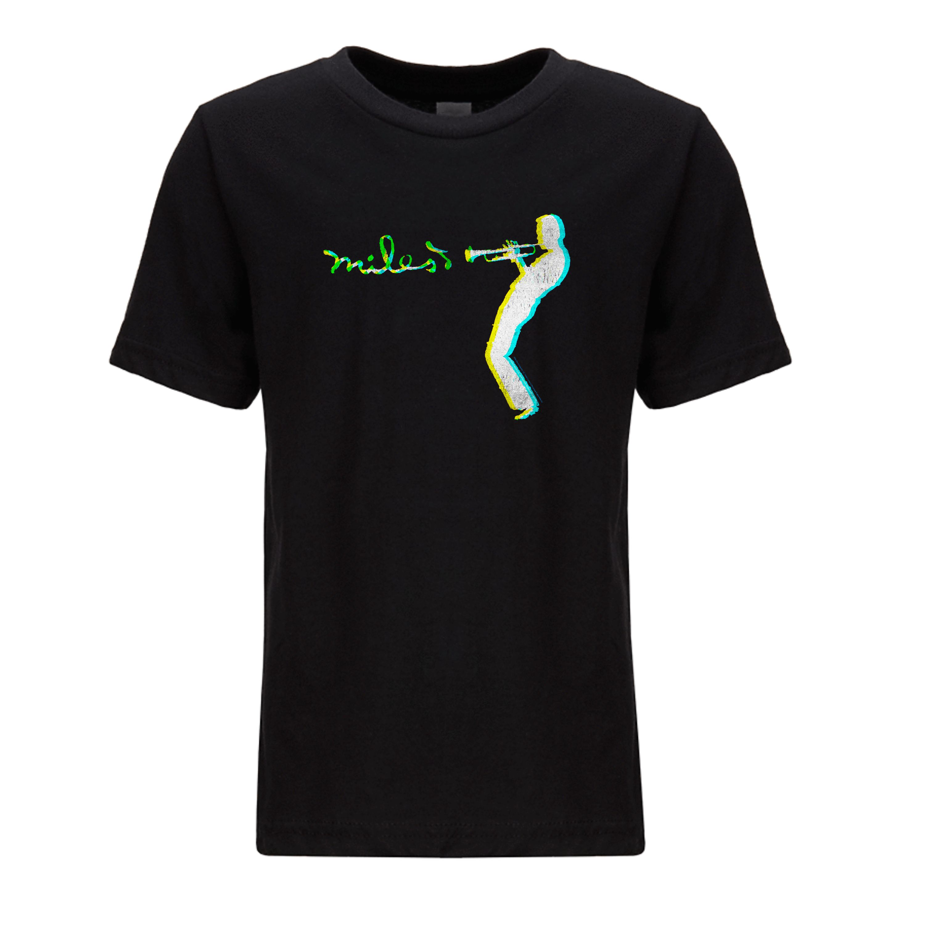Youth Blue Green Silhouette Tee
