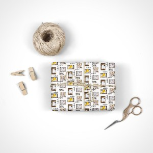 Miles Calligraphy Wrapping Paper