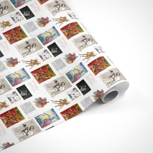 Miles Davis Art Collage Wrapping Paper
