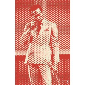 Duotone Style Red Print