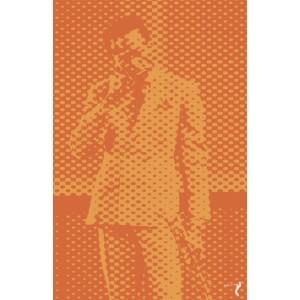 Duotone Style Orange Print