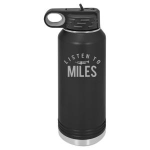 Listen To Miles 32 oz Polar Camel Water Bottle