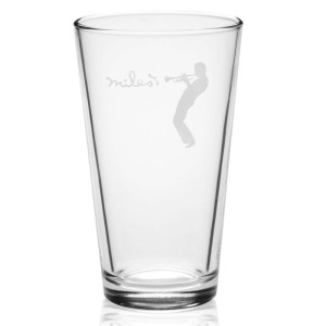 Silhouette Laser-Etched Pint Glass