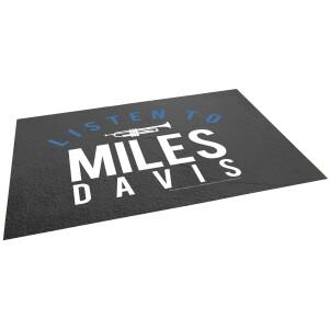 Listen To Miles Davis Glass Cutting Board
