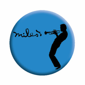 "Miles Davis Silhouette 1.25"" Round Button"