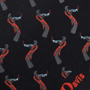 Black Miles Davis Trumpet Tie