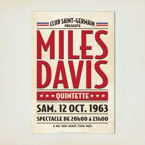 Saint Germain Paris, 1963 Concert Print