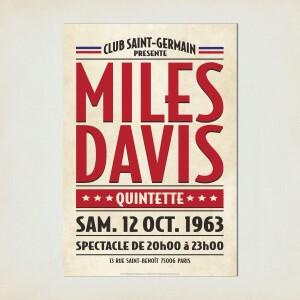Saint Germain Paris, 1963 Concert Print