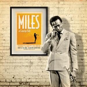 Miles At Carnegie Hall Print