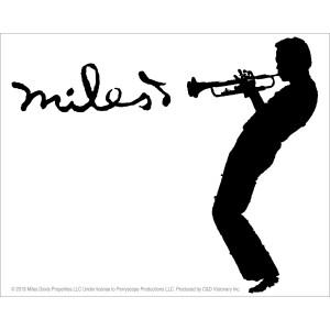 "Miles Davis Logo 5""x4"" Sticker"