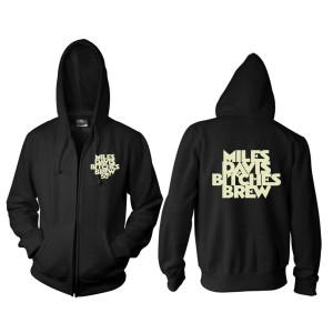 Miles Davis Bitches Brew 50th Anniversary Black Zip Hoodie