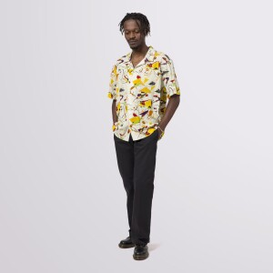 Miles Davis Self-Portrait Rayon Short Sleeve Woven