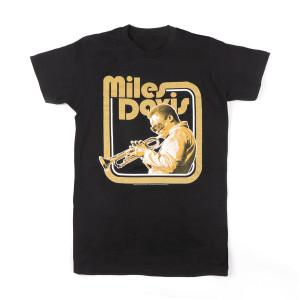 Miles Davis Trumpet Black Tee
