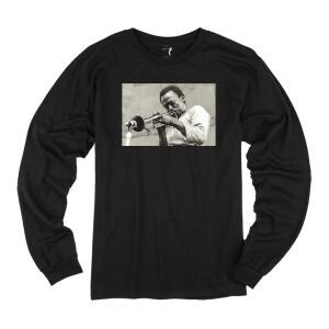 Miles Davis Central Park 1970 Black Long Sleeve T-shirt