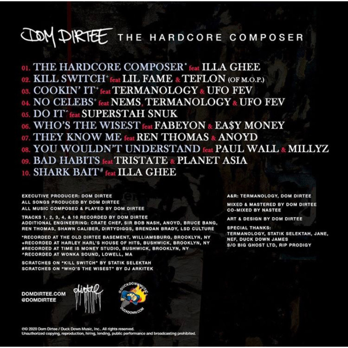 "Dom Dirtee ""The Hardcore Composer"" CD Bundle"