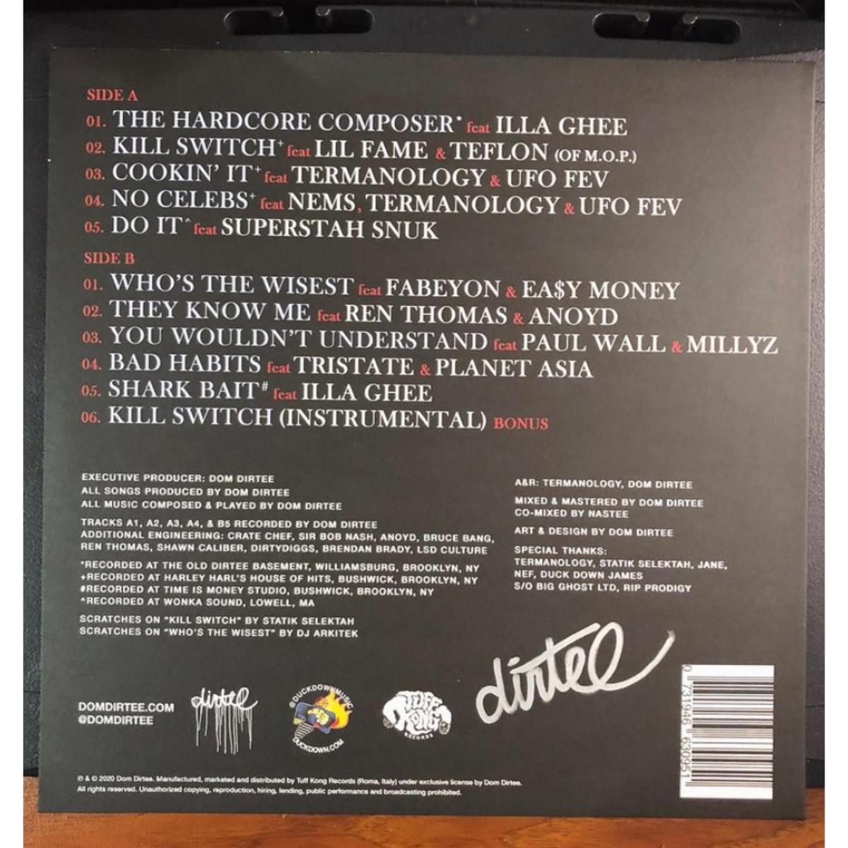 Dom Dirtee's The Hardcore Composer Signed Vinyl